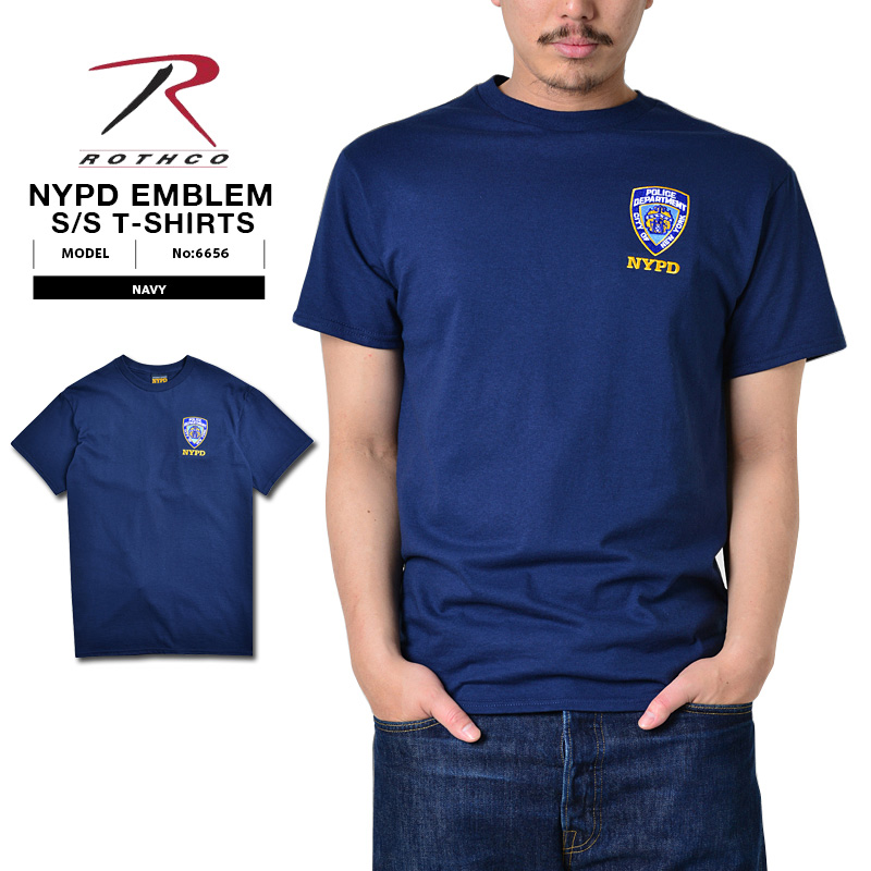 6678bf308 ROTHCO Roscoe NYPD official emblem training T-shirt navy New York local police  department formal ...