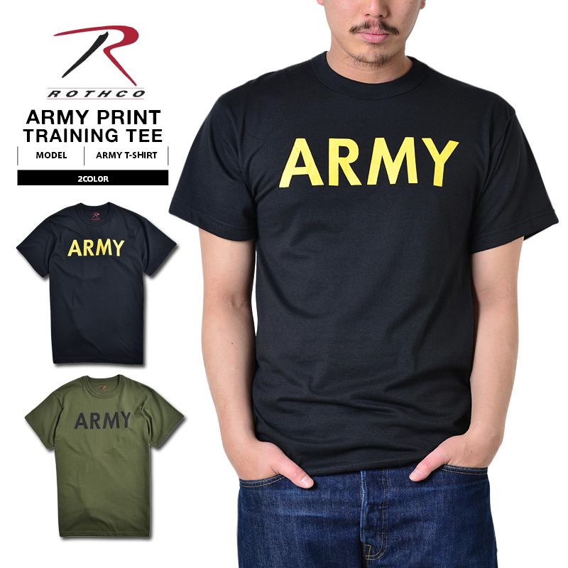 ROTHCO Rothko ARMY training T t-shirt tee ARMY logo print US Army United  States Army military sabage black T black 60363 olive 60136 mens 0276248accf