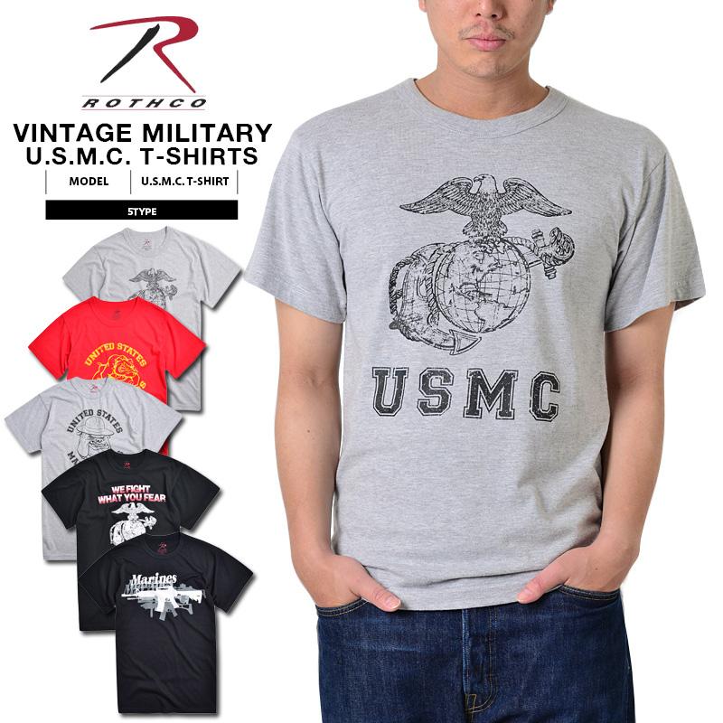 WIP03 U.S.M.C.モチーフのさまざまなデザイン クーポンで15%OFF ROTHCO ロスコ VINTAGE MILITARY U.S.M.C.プリントTシャツ ミリタリー 半袖 Tシャツ 選べる アメリ軍 T 大きいサイズ 海兵隊 メンズ U.S.M.C. 安心の定価販売 米軍 商舗 So プリント USMC