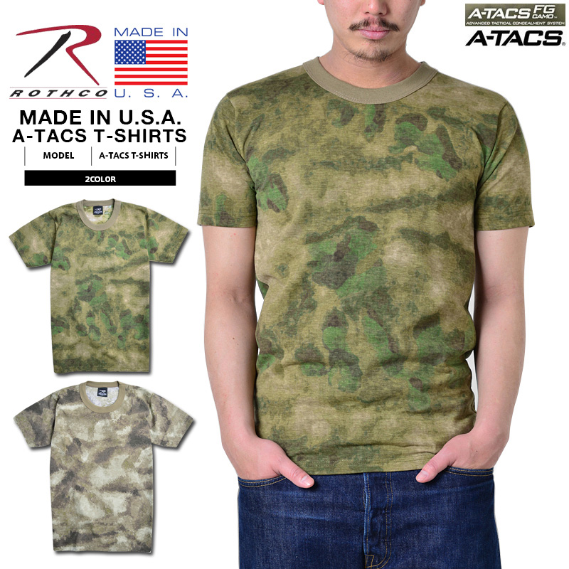 e12bb63d9226 ROTHCO Roscoe MADE IN U.S.A. T-shirt short sleeves T-shirt camouflage camo  A ...