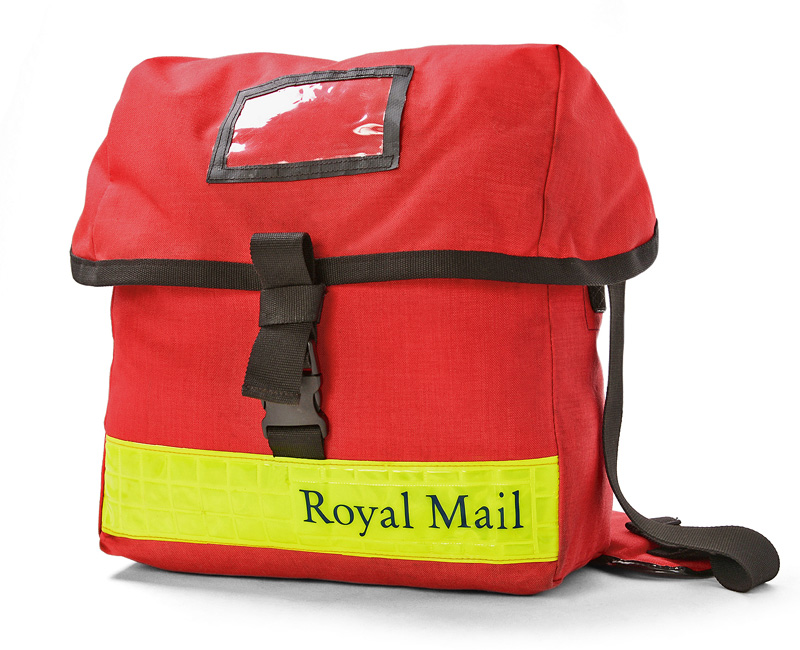 ee07437d536 Real thing U.K. ROYAL MAIL messenger bag SMALL yellow reflector USED     WIP03