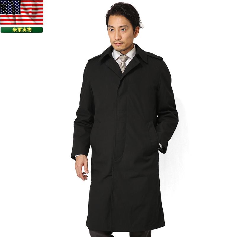 実物 新品 米軍U.S. NAVY ブラックステンカラーコート【クーポン対象外】《WIP03》