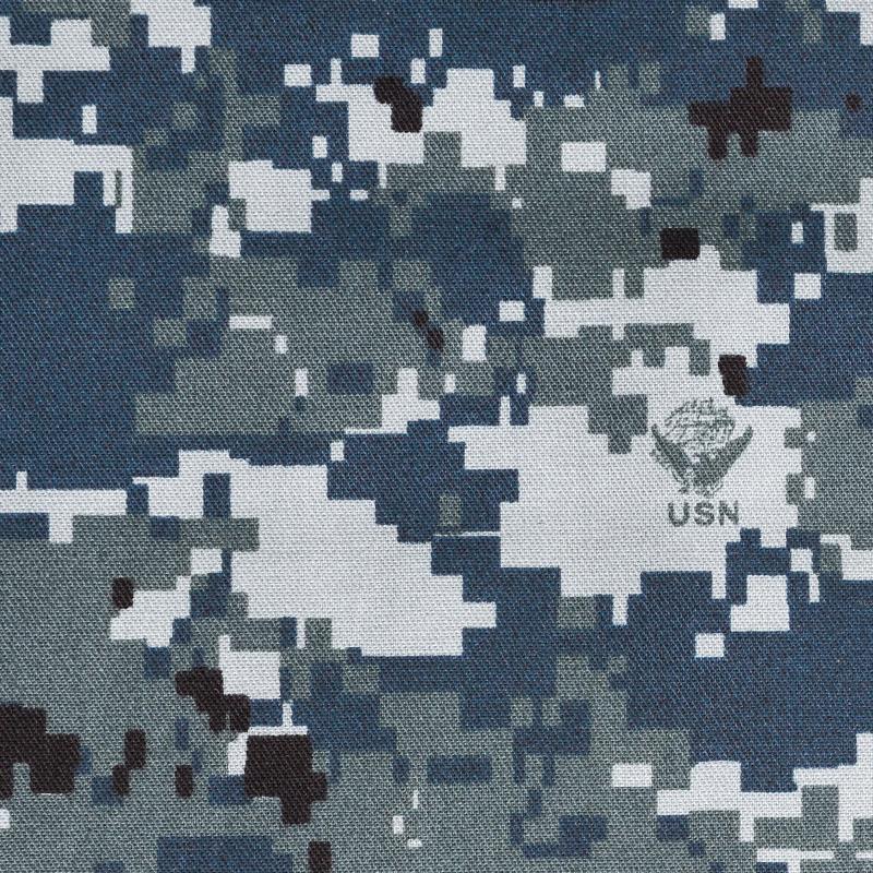 真正全新美國海軍 (USN) 西北大學類型 1 數位圖案迷彩面料
