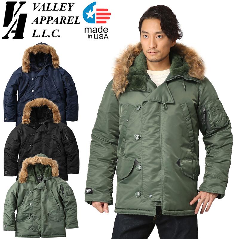 【店内20%OFFセール開催中】Valley Apparel バレイアパレル MADE IN USA N-3B フライトジャケット《WIP03》