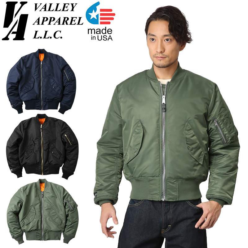 Valley Apparel バレイアパレル MADE IN USA MA-1 フライトジャケット《WIP03》