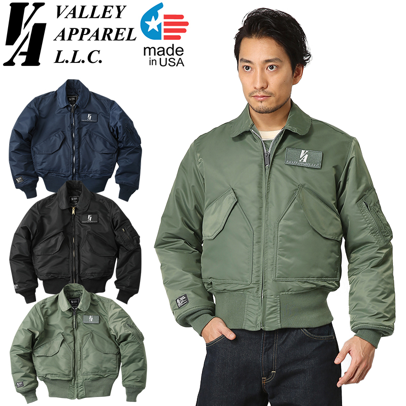 Valley Apparel バレイアパレル MADE IN USA CWU-45/P フライトジャケット【WIP03】【クーポン対象外】