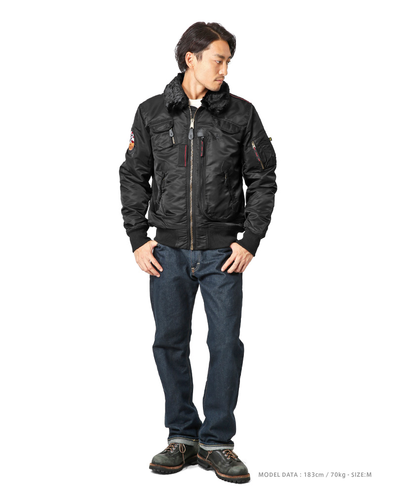 ALPHA INDUSTRIES INJECTOR III SHELL BOMBER JACKET SIZE M