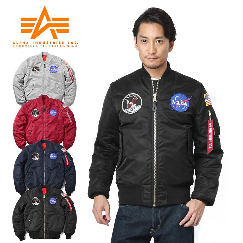 ALPHA アルファ TA0113 NASA APOLLO MA-1 フライトジャケット JAPAN FIT《WIP03》【Sx】アウター メンズ ブランド ミリタリー 防寒
