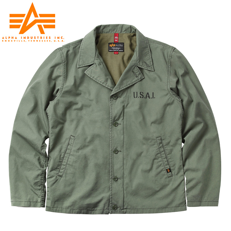 ALPHA アルファ TA1460 N-4 コットンキャンバス デッキジャケット