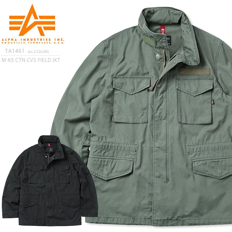 ALPHA アルファ TA1461 CTN CANVAS M-65 フィールドジャケット
