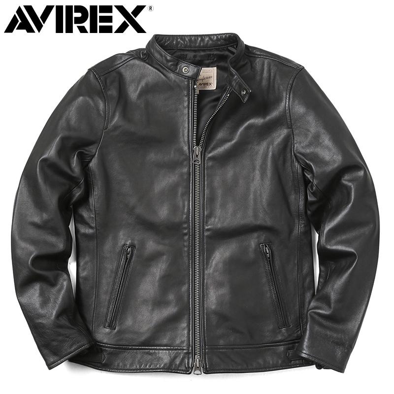 AVIREX アビレックス 6181048 SHEEP SKIN シングルライダースジャケット【クーポン対象外】