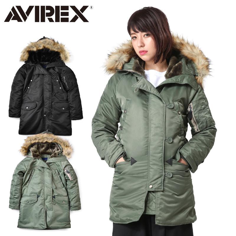 AVIREX アビレックス 6252053 レディース COMMERCIAL N-3Bフライトジャケット《WIP03》レディース アウター ミリタリー ブルゾン 冬【クーポン対象外】