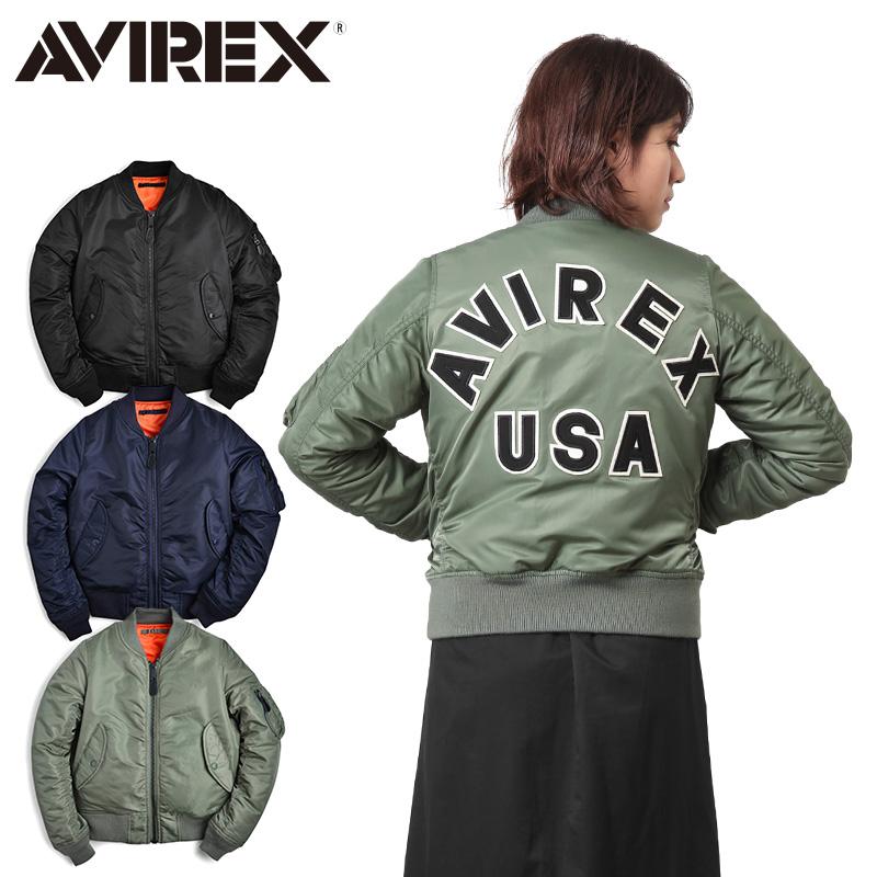 AVIREX アビレックス 6262078 レディース COMMERCIAL LOGO MA-1フライトジャケット《WIP03》レディース アウター ミリタリー ブルゾン 冬【クーポン対象外】