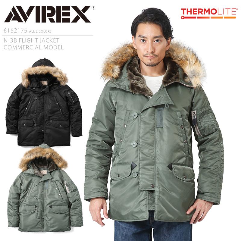 AVIREX アビレックス 6152175 N-3Bフライトジャケット コマーシャルモデル【クーポン対象外】
