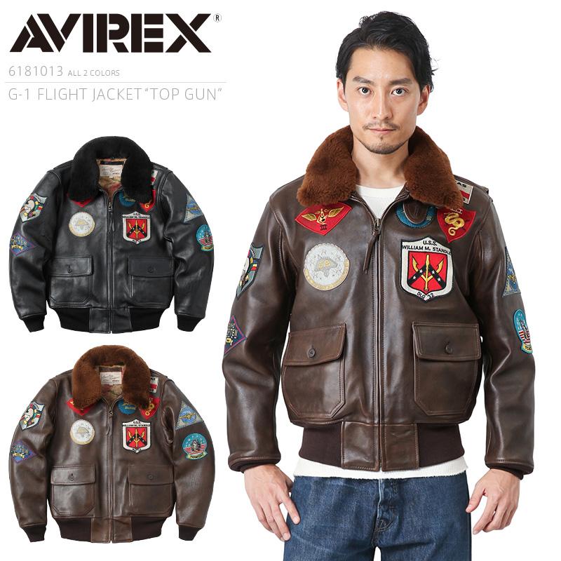 AVIREX アビレックス 6181013 G-1フライトジャケット TOP GUN【クーポン対象外】