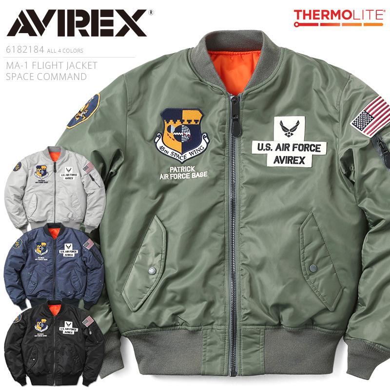 AVIREX アビレックス 6182184 MA-1 フライトジャケット SPACE COMMAND【クーポン対象外】