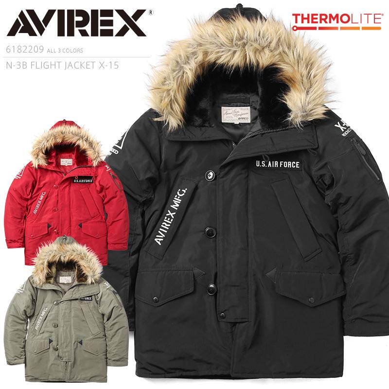 AVIREX アビレックス 6182209 N-3Bフライトジャケット X-15【クーポン対象外】