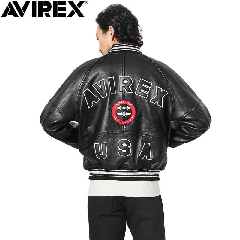 AVIREX アビレックス 6181032 オールレザー VARSITY ジャケット【クーポン対象外】