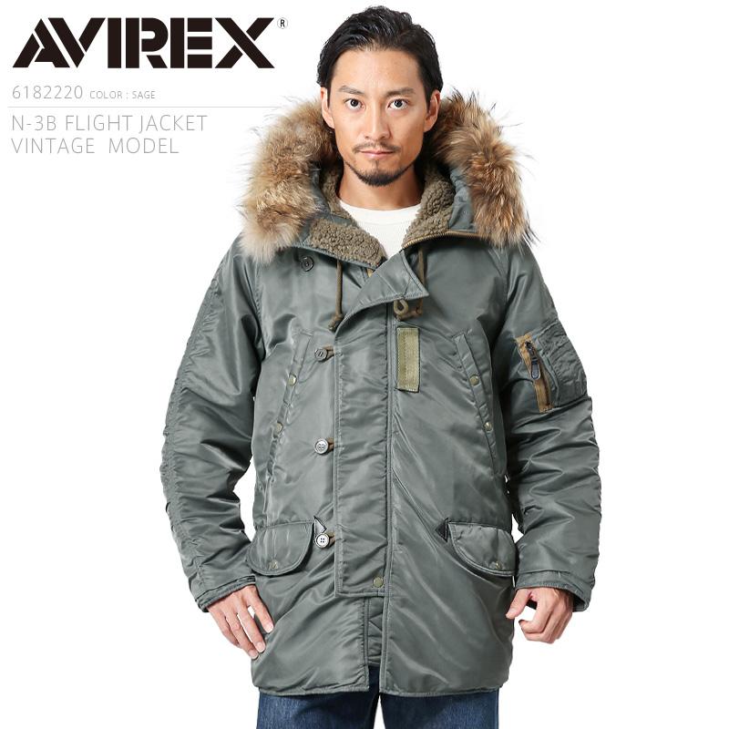 AVIREX アビレックス 6182220 N-3Bフライトジャケット VINTAGE【クーポン対象外】