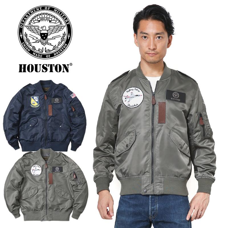 【店内20%OFFセール開催中】HOUSTON ヒューストン L-2 A/B フライトジャケット BLUE ANGELS / THUDERBIRDS