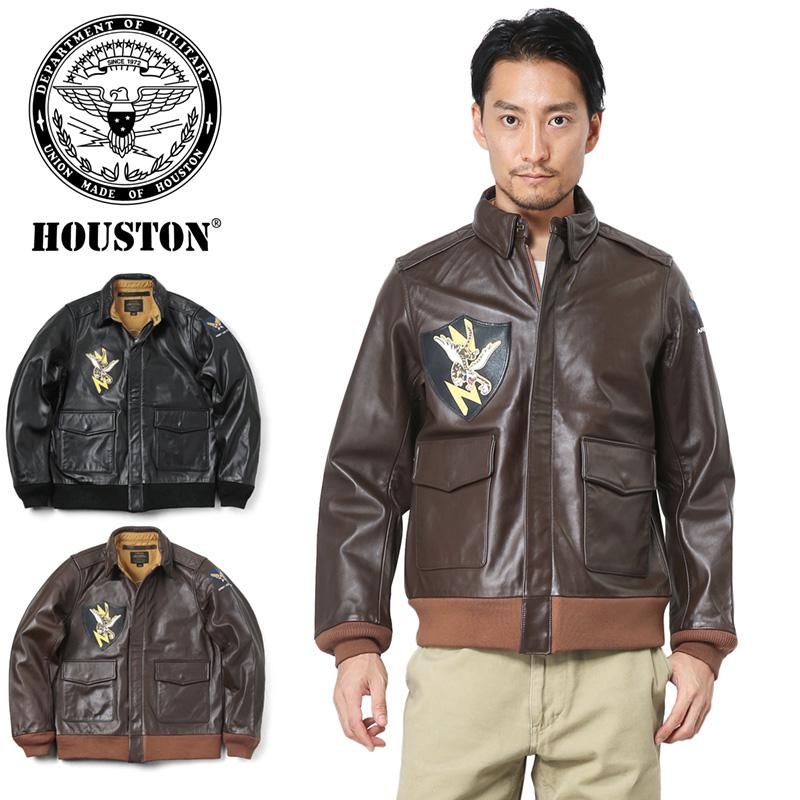 33%OFF大特価!HOUSTON ヒューストン 8180 A-2 ホースレザー ジャケット FLYING TIGER【クーポン対象外】