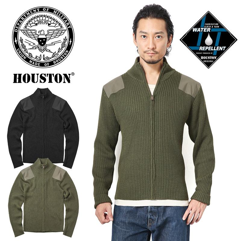 HOUSTON ヒューストン 21719 WATER REPELLENT(撥水) コマンドジップセーター