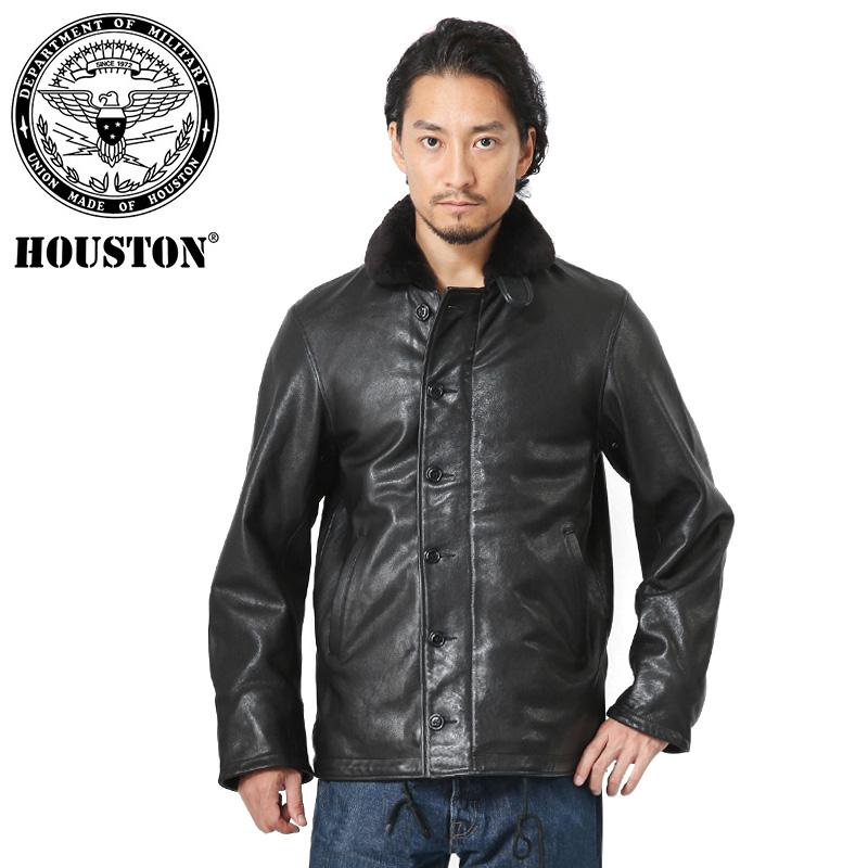 HOUSTON ヒューストン 8190 ベジタブルラムレザー N-1 デッキジャケット