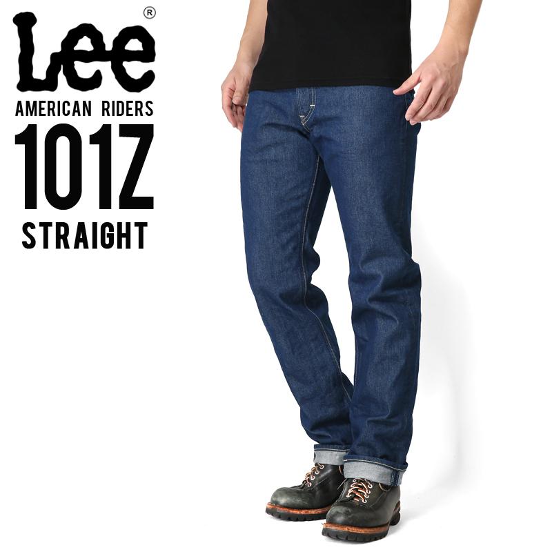 Lee リー AMERICAN RIDERS 101Z ストレート デニムパンツ ミディアムインディゴ【LM5101-400】