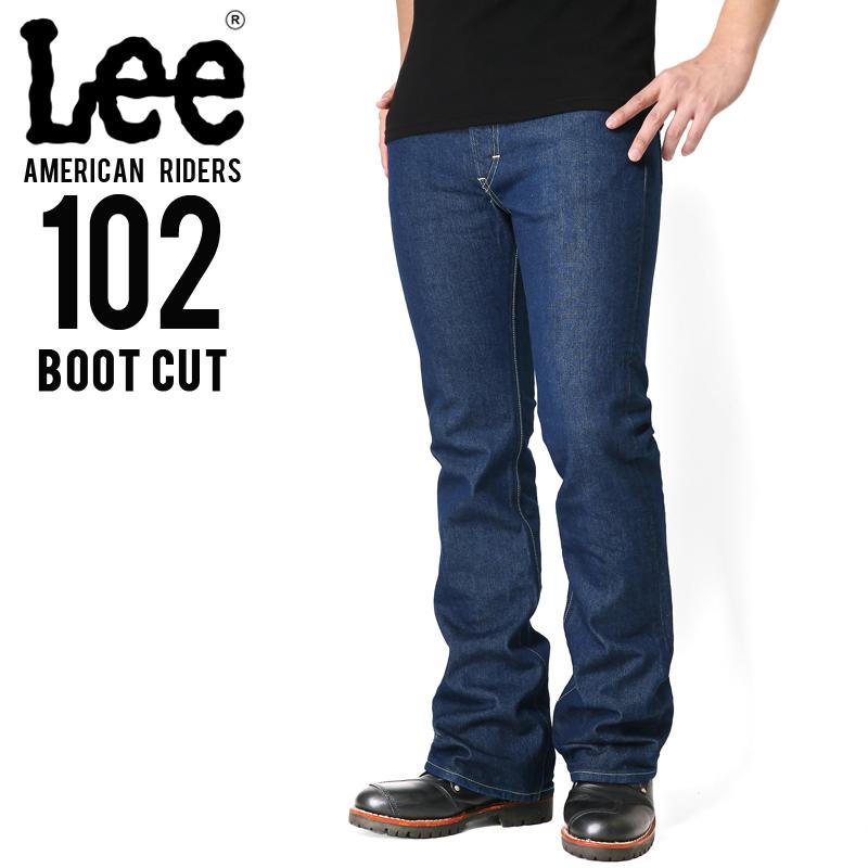 Lee リー AMERICAN RIDERS 102 ブーツカット デニムパンツ ミディアムインディゴ【LM5102-400】