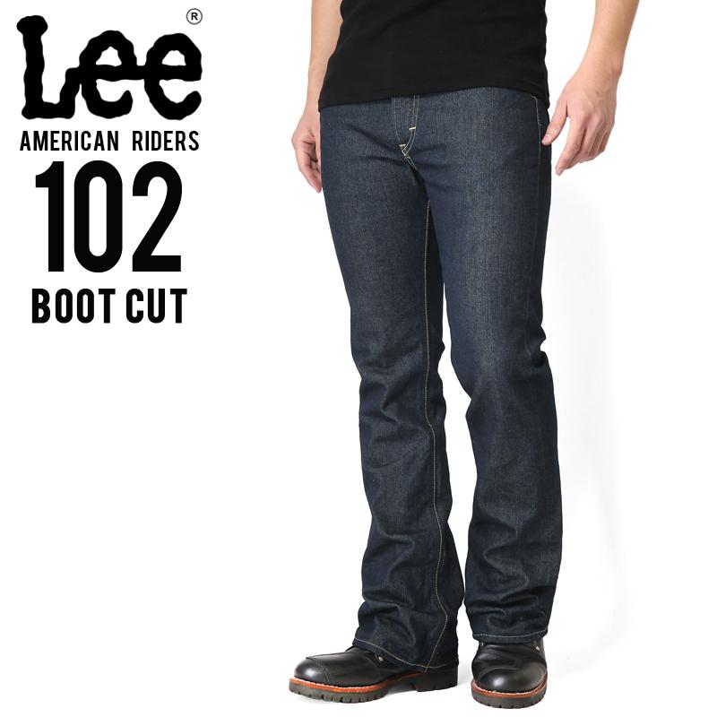 Lee リー AMERICAN RIDERS 102 ブーツカット デニムパンツ ダークインディゴ【LM5102-500】