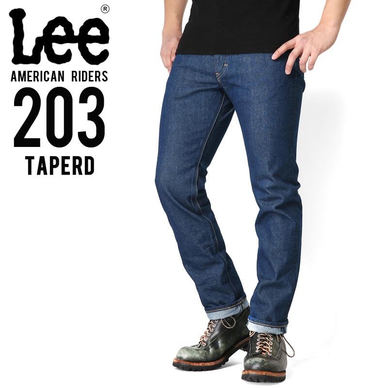Lee リー AMERICAN RIDERS 203 テーパード デニムパンツ ミディアムインディゴ【LM5203-400】