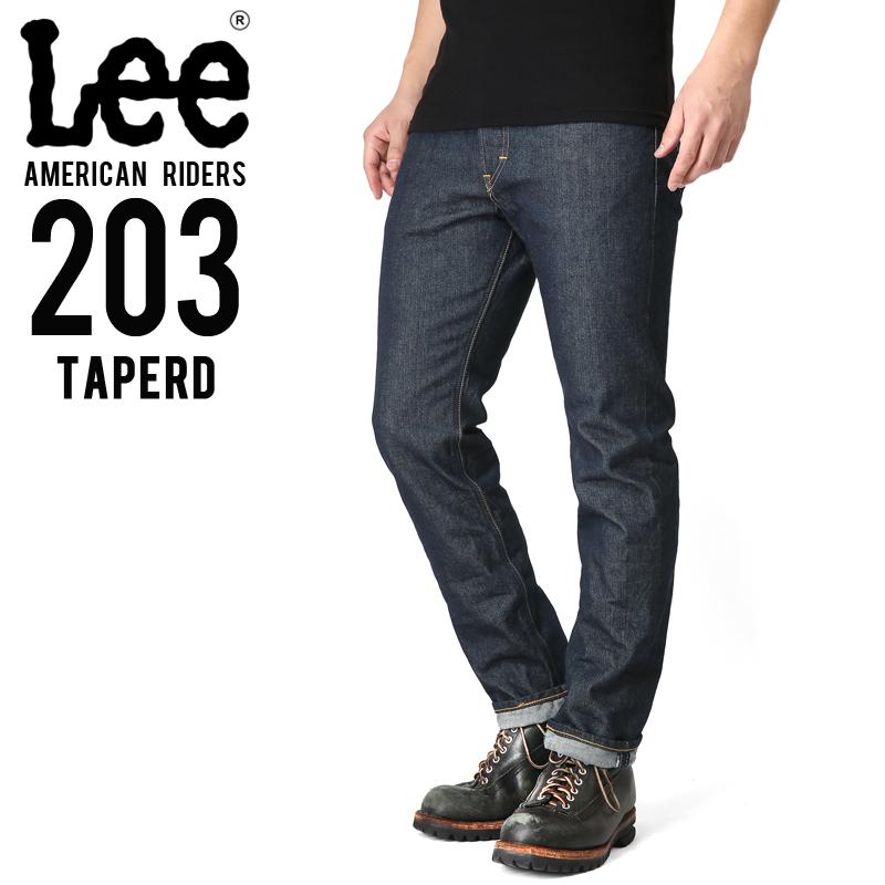 Lee リー AMERICAN RIDERS 203 テーパード デニムパンツ ダークインディゴ【LM5203-500】