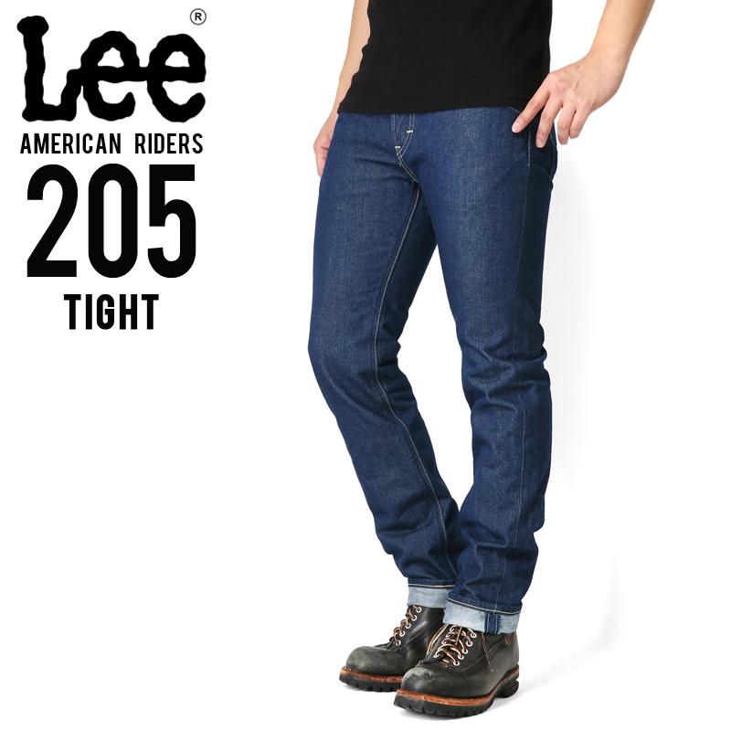 Lee リー AMERICAN RIDERS 205 タイトストレート デニムパンツ ミディアムインディゴ 【LM5205-400】