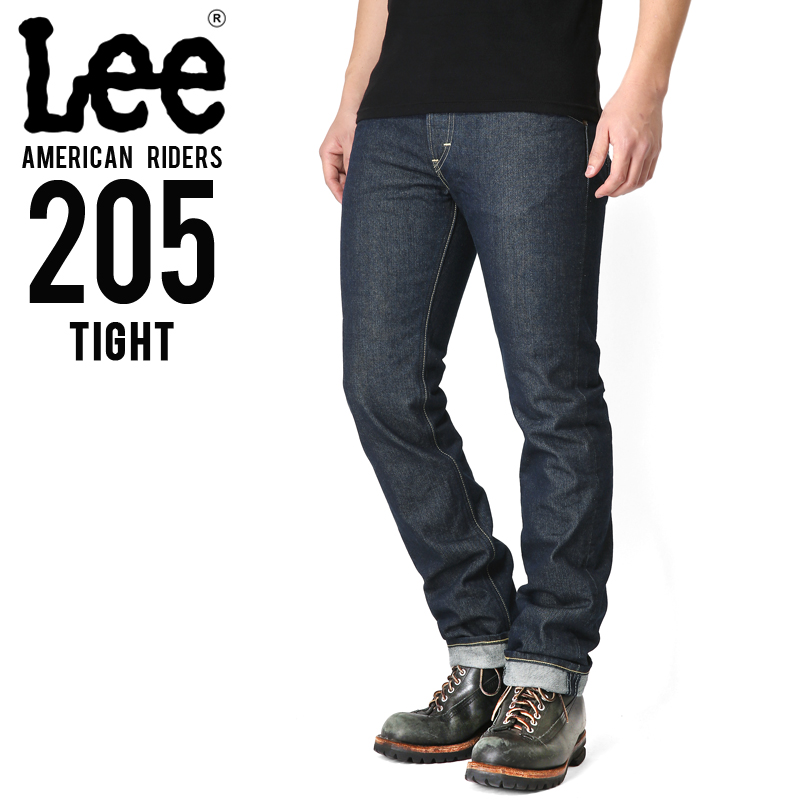 Lee リー AMERICAN RIDERS 205 タイトストレート デニムパンツ ダークインディゴ 【LM5205-500】