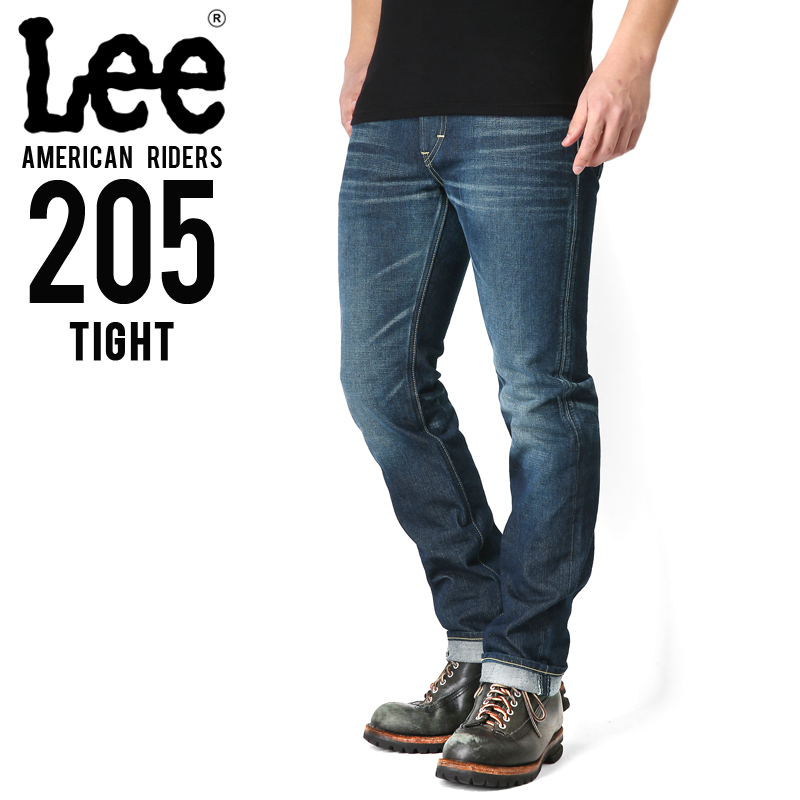 【店内20%OFFセール開催中】Lee リー AMERICAN RIDERS 205 タイトストレート デニムパンツ 濃色ブルー【LM5205-526】