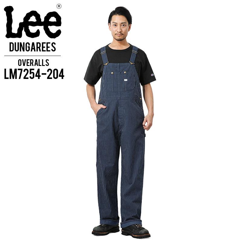 Lee リー LM7254-204 ダンガリーズ オーバーオール ウォバッシュストライプ