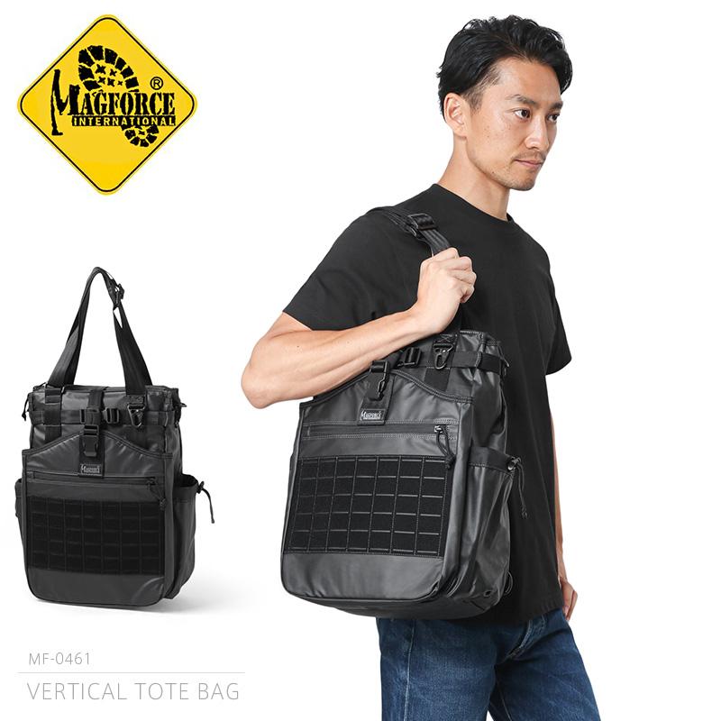 【店内20%OFFセール開催中】MAGFORCE マグフォース MF-0461 VERTICAL TOTE BAG トートバッグ