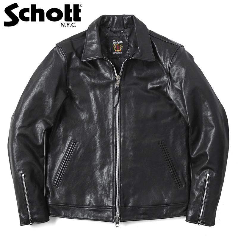 Schott ショット 3181076 シングルブレスト ライダースジャケットメンズ 皮ジャン 革ジャン 本革 レザージャケット アメカジ ブランド 新作(クーポン対象外)