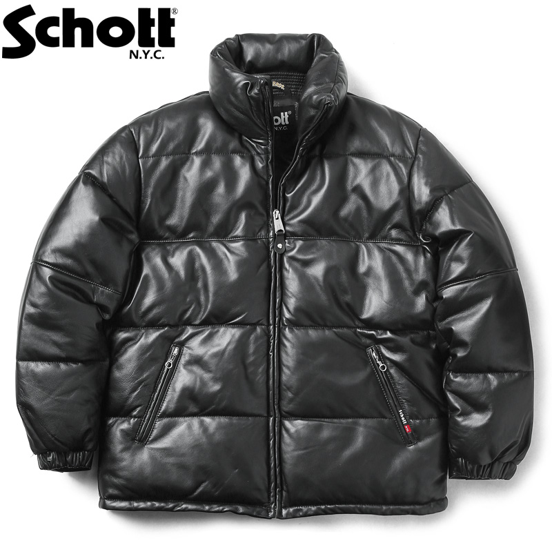 Schott ショット 3191067 シープスキンレザー ダウンジャケット【クーポン対象外】