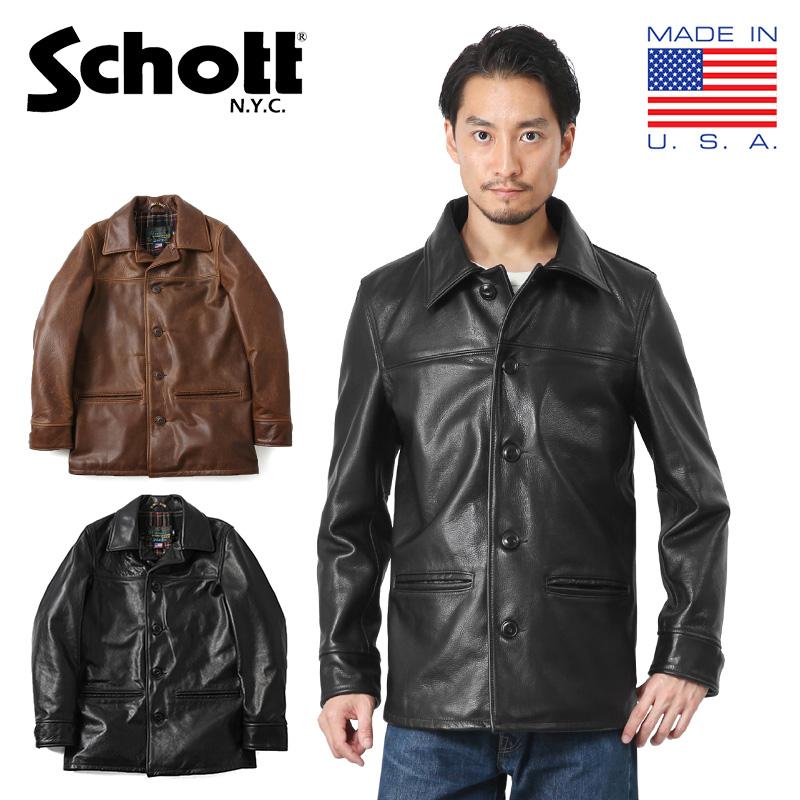 Schott ショット 7420 533US レザーカーコート(クーポン対象外)