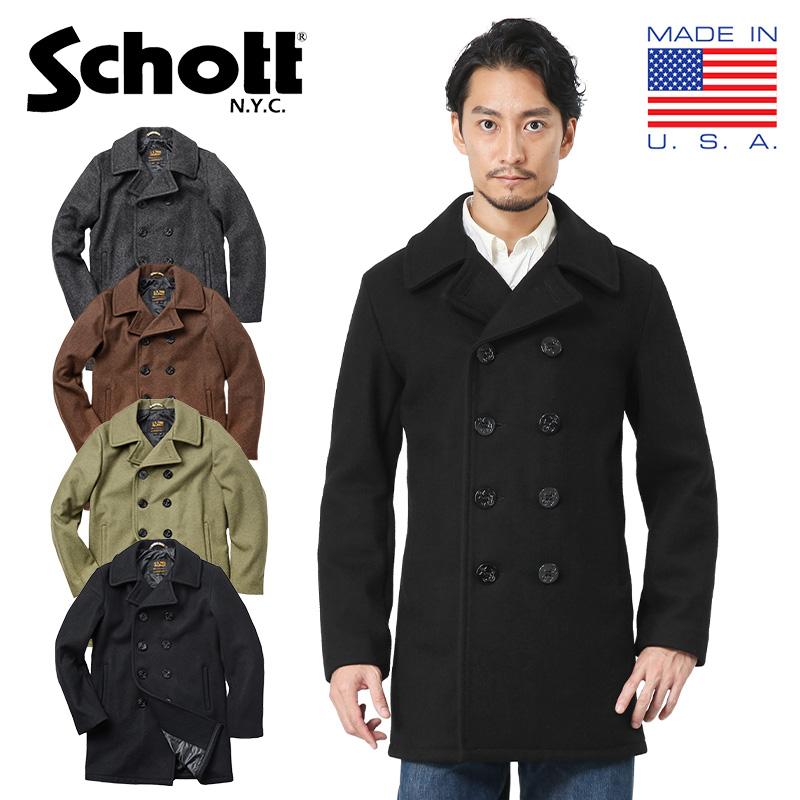 Schott ショット 7500 753UST 日本別注 24oz スリムフィットピーコート TALL(クーポン対象外)
