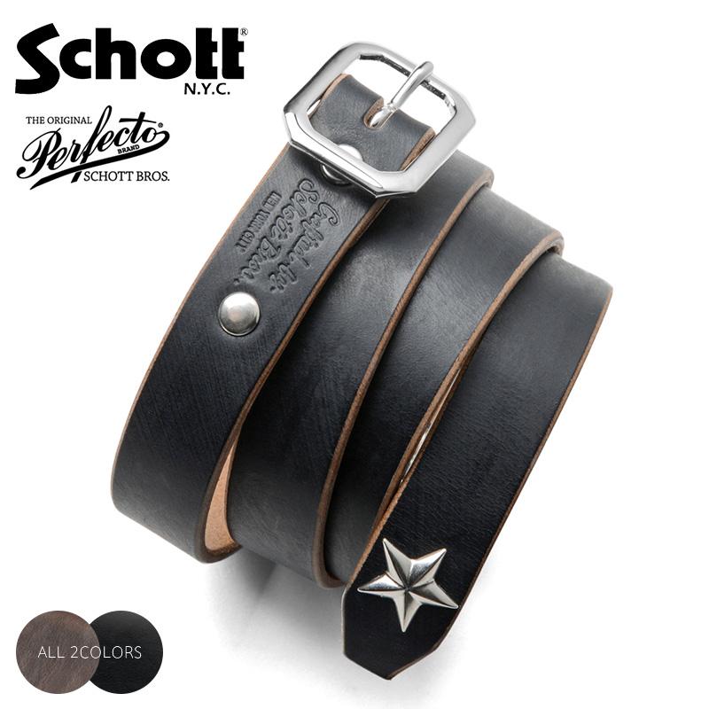 Schott ショット 3129046 PERFECTO BELT NARROW レザーベルト(クーポン対象外)