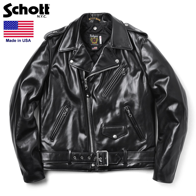 Schott ショット 613UHT HORSEHIDE ONE STAR ライダースジャケット TALL【7416】(クーポン対象外)
