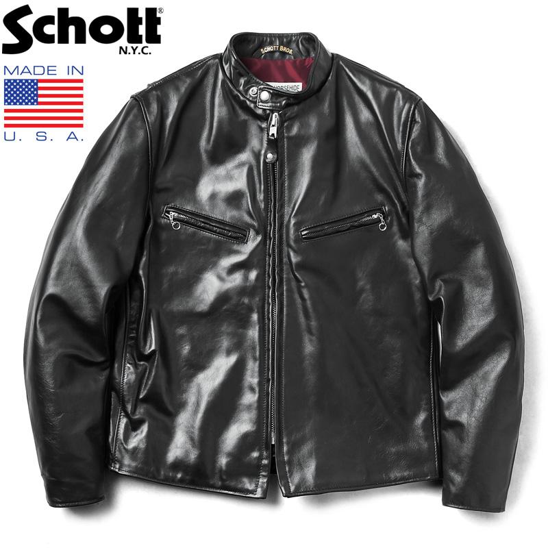 Schott ショット 641XXH HORSEHIDE CAFE RACER レザージャケット MADE IN USA【7417】【クーポン対象外】