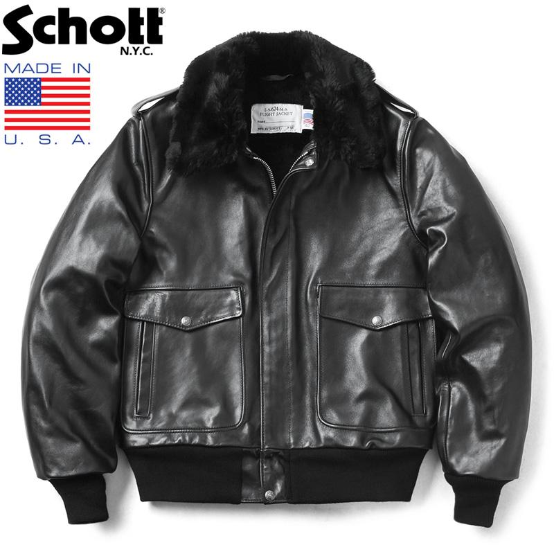 Schott ショット 173US レザー ボマージャケット MADE IN USA【クーポン対象外】