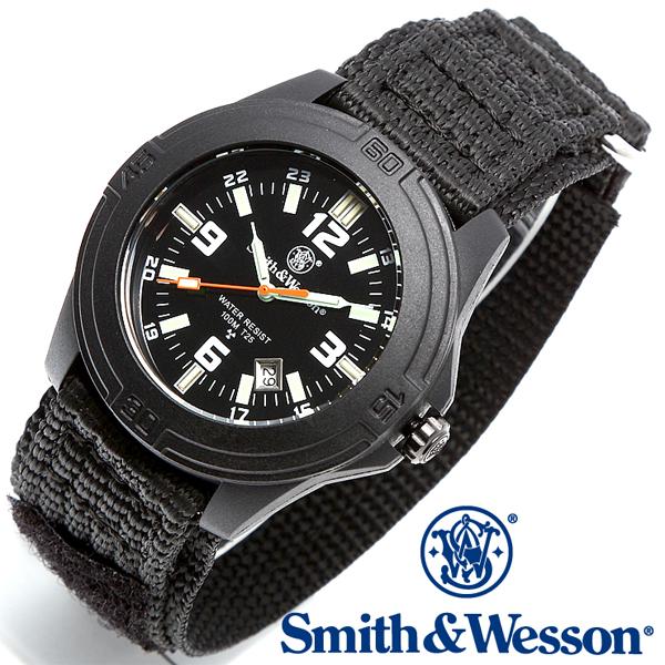 Smith & Wesson スミス&ウェッソン SOLDIER WATCH 腕時計 NYLON STRAP BLACK SWW-12T-N 【クーポン対象外】