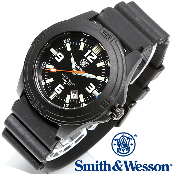 Smith & Wesson スミス&ウェッソン SOLDIER WATCH 腕時計 RUBBER STRAP BLACK SWW-12T-R 【クーポン対象外】