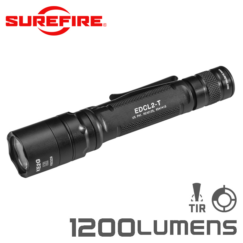 SUREFIRE シュアファイア EDCL2-T Dual-Output Everyday Carry LEDフラッシュライト / 1200ルーメン【クーポン対象外】