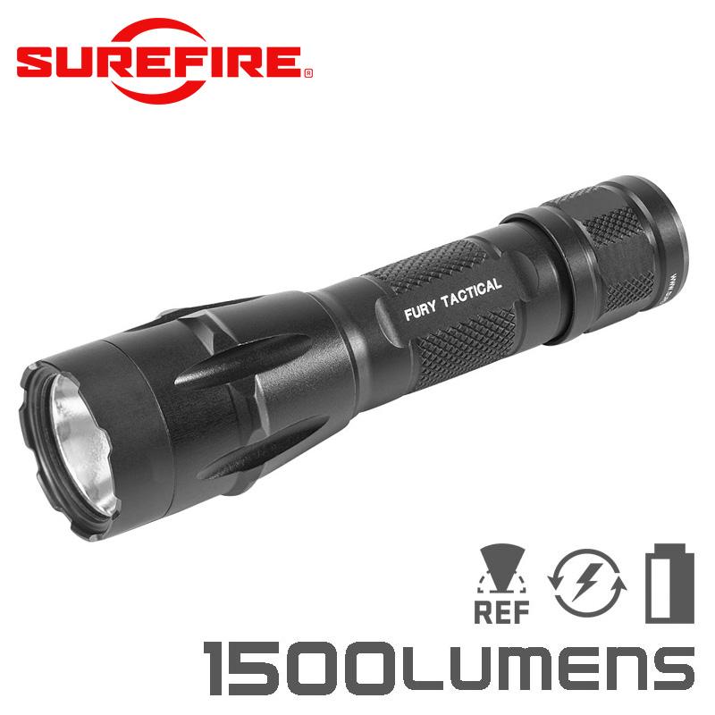 SUREFIRE シュアファイア FURY Dual Fuel Tactical LEDフラッシュライト / 1500ルーメン(FURY-DFT)【クーポン対象外】
