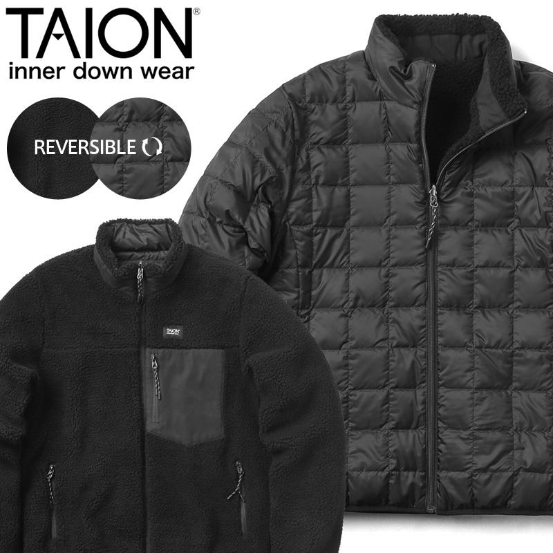TAION タイオン TAION-R102MB MOUNTAIN LINE ダウン/ボア リバーシブル ダウンジャケット MENS【Sx】【クーポン対象外】
